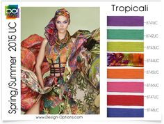 TROPICALI     South of the equator where style is hot and the merengue music never stops... Tropicali.  Orange and pink tones of jasmine b...