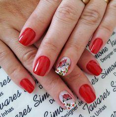 100 Fotos de Unhas decoradas Românticas Black Nail Polish, Black Nails, Red Nails, Ring Finger, Finger Nails, Cute Nail Designs, Cute Nails, You Nailed It, Nail Art