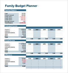 Daily Household Budget Template   Household Budget Template
