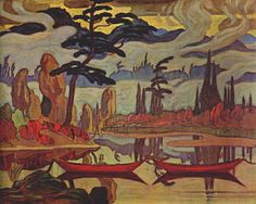 By far my most favourite MacDonald painting. Called Mist Fantasy from the Algoma region 1922. Love the mist & the blue hills. So rich.