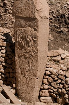 """Göbekli Tepe Turkish: [ɡøbe̞kli te̞pɛ][2] (""""Potbelly Hill""""[3]) is a Neolithic hilltop sanctuary erected at the top of a mountain ridge in the Southeastern Anatolia Region of Turkey, some 15 kilometers (9 mi) northeast of the town of Şanlıurfa (formerly Urfa / Edessa). It is the oldest known human-made religious structure"""