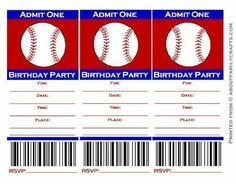 Free printable baseball party invitation Party Printables
