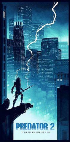 'Predator (Variant Edition) print by Matt Ferguson for Bottleneck Gallery at New York Comic Con 2018 Horror Movie Posters, Film Posters, Horror Movies, Alfred Hitchcock, Predator Cosplay, Superhero Poster, Horror Artwork, Predator Alien, Fiction Movies