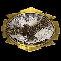 NEW EAGLE PATRIOTIC GOLD ANTIQUE BRASS AMERICA BIKER USA ANIMAL BIRD BELT BUCKLE