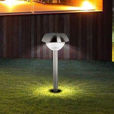 Design Solar Lampe LED Garten Steck Leuchte Aussen Strahler Edelstahl Erdspieß