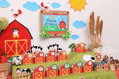 Farm Barn Yard Baby Shower Package Personalized by venspaperie