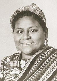 Guatemalan Rigoberta Menchu, was seeking justice for the mass murder of Mayans including her own family members, ex-President Rios Montt (supported by US Pres. Reagan) was convicted of genocide and sentenced to 80 years in prison. (May 2013)