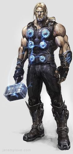 Thor Concept Art for Canceled Marvel Game - artist?
