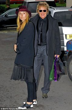 Rod+Stewart+Daughter | Family bonding: Rod Stewart and his daughter Ruby say goodbye to each ...
