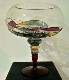 Catawiki online auction house: France Manufacturer - Fruit bowl - Glass (stained glass) Cool Necklaces, Beautiful Necklaces, Late 20th Century, Decorative Objects, Stained Glass, Wine Glass, Clock, Pottery, Decorations