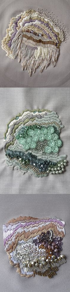 ♒ Enchanting Embroidery ♒ Anna Jane Searle. Embroidery Art.