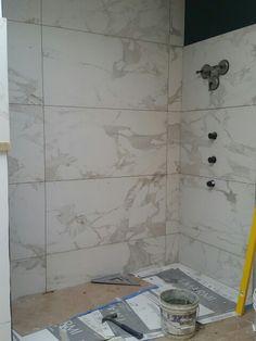 Porcelain Tile That Duplicates Marble Bathrooms Tiles
