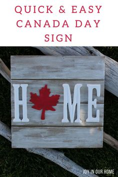 How to Make a Quick and Easy Canada Day Sign - Ronnie D McLamb Handyman Service. Canada Day Party, Carpentry Projects, Wood Projects, Projects To Try, Canada Day Crafts, Diy Home, Home Decor, Diy Wood Signs, Outdoor Wood Signs