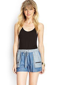 Zip Pocket Denim Shorts | FOREVER21 - 2000121676