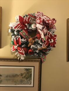 Christmas 2017, 4th Of July Wreath, Wreaths, Home Decor, Homemade Home Decor, Door Wreaths, Deco Mesh Wreaths, Garlands, Floral Arrangements