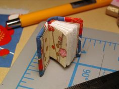 making a miniature book by MissRuth, via Flickr