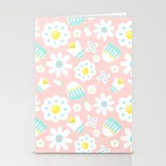Happy Spring Floral Stationery Cards by Noonday Design. Worldwide shipping available at Society6.com. Just one of millions of high quality products available.