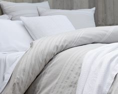 Make your bedroom Winter White with our Geo Stripe Duvet Cover with beautiful chevrons, ripples and diamonds. Crafted from 100% Organic Cotton.