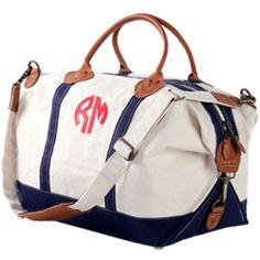 Monogrammed Canvas Weekend Bag