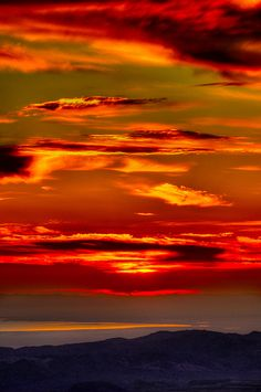 Sunrise over the Salton Sea, California