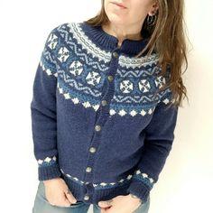 b647cabf67 Details about Vtg Norsstrikk S M Cardigan Sweater Wool Nordic Fair Isle  Blue Women Knit