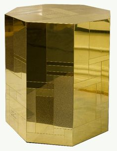 Paul Evans Citiscape, Octagonal Side Table, 1970s.