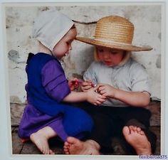"""Bill Coleman; Pennsylvania Amish Photo """"SHARING"""""""