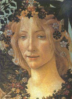 Simonetta Vespucci as La Primavera - Sandro Botticelli.