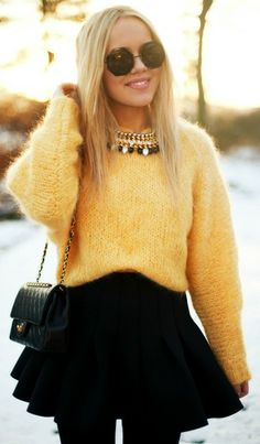 black and mustard