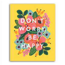 don't worry be happy print Rifle Paper Co.
