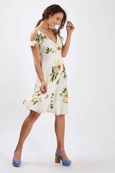 PETITE Floral Print Wrap Dress