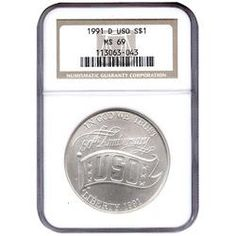 1991 D USO Silver Dollar MS69 NGC