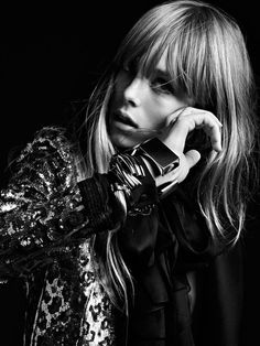 Edie Campbell by Hedi Slimane for Saint Laurent Paris Spring/Summer 2013