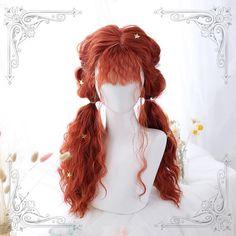 Halloween Cosplay Sweet Long Wavy Ponytails Wig - New Sites High Bun Hairstyles, Kawaii Hairstyles, Wig Hairstyles, Kawaii Wigs, Wavy Ponytail, Long Ponytails, Lolita Hair, Lolita Dress, Pelo Anime