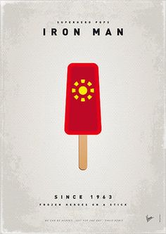 Iron Man as a popsicle.