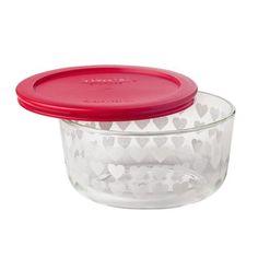 18353bbbec Pyrex® Storage Plus® 4 Cup Valentines Storage Dish - White Hearts W/ Red