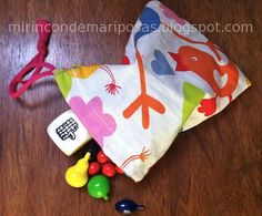 mi rincón de mariposas: Su primera costura: bolsita de tela