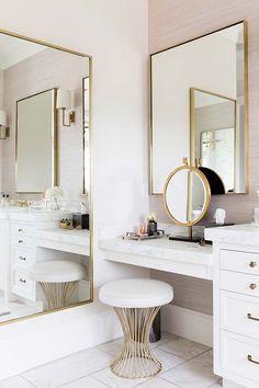 8 Dreamy Design Ideas for a Master Bathroom Interior Design Ideas Bathroom Design Dreamy Ideas Master Bathroom Interior, Bathroom Ideas, Bathroom Designs, Bathroom Renovations, Bathroom Bin, Bathroom Inspiration, Remodel Bathroom, Bathroom With Makeup Vanity, Bathroom Vanities