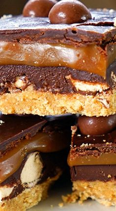 No Bake Salted Caramel Malted Chocolate Cookie Bars