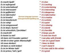 Expresiones alemán inglés