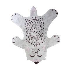 Tapis en coton antidérapant lavable en machine blanc Little Fox Nattiot NATTIOT