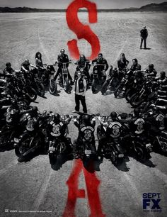 My new favorite show: Sons of Anarchy. This is Season 5 artwork , Can't wait for the premiere on 9/11/12 :)