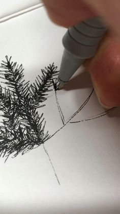 How to draw a christmas tree wby julia karl art drawing ink illustration diy artsandcrafts draw sketch sketchbook drawingtutorial drawyourself Drawing Tips, Drawing Sketches, Painting & Drawing, Art Drawings, Drawing Drawing, Drawing Ideas, Branch Drawing, Sketching, Sketch Art