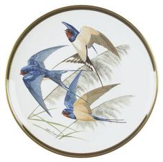 Franklin Mint Songbirds of the World: Barn Swallow - Artist: Arthur Singer