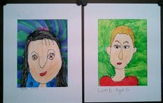 Kindergarten Self Portraits with instruction and from observation. Art teacher Jennifer Lipsey Edwards.