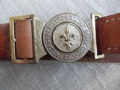 Vintage Boy Scout Belt of The Swiss Guide and Scout Movement | eBay