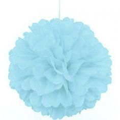 Baby Blue Paper Pom Pom
