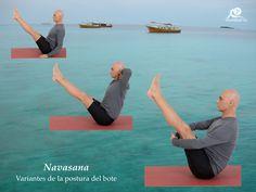 Variantes de Navasana. Postura del bote