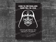 Darth Vader - Star Wars Birthday Party Invitation  #heythereprints