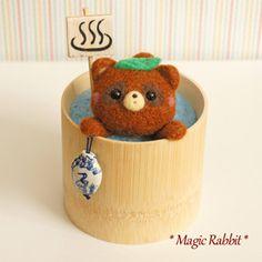 【Magic Rabbit】Feltneedle wool - タヌキ